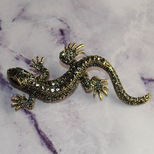 Lizard Brooch Pinup Vintage Style Lapel Pin NWT